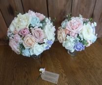 Pink silk and foam bouquet