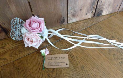 Satin ribbon heart wand flower girl