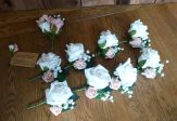 Silk and foam button holes pink and white
