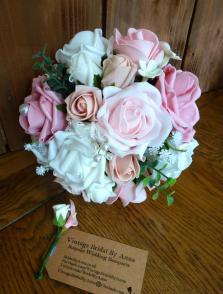 Silk and foam pearl bridal bouquets