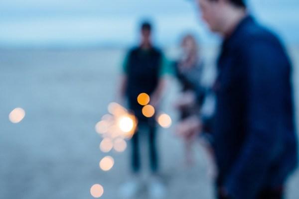 beach bride sparkler