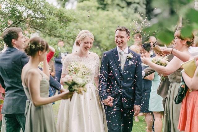 Confetti wedding smile