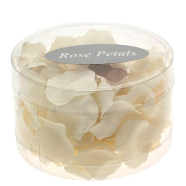 Ivory silk rose petals tub