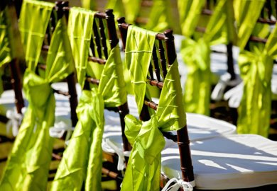 Beach Wedding Chair Sashes