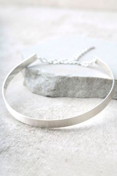 Lulus.com, $16, Style: Dearly Beloved Silver Choker Necklace