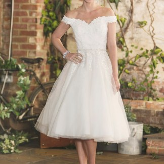 Tilly t-length bridal gown by Brighton Belle