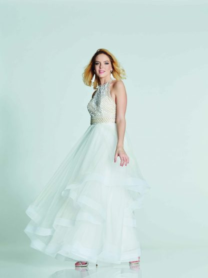 Dakota bridal gown by Tiffany's Illusion collection