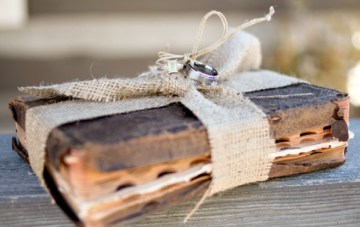Vintage Book Ring Pillow Alternative