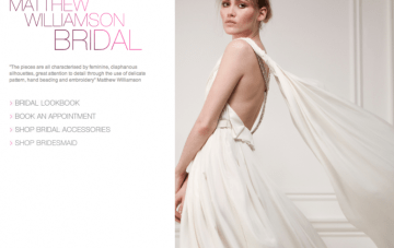 Matthew Williamson's New Bridal Collection-Available Online