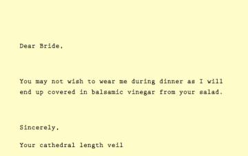 Dear Bride… {Fun & Frolics}