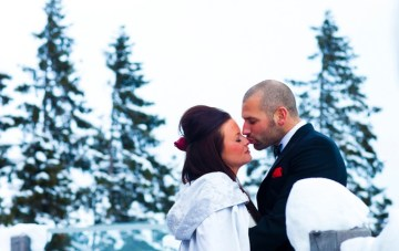 An Incredible, Scarlet & Snow-Filled Wedding in a Log Cabin {Part 2}