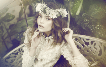 Flower Crowns & Flower Garlands for Bohemian Brides