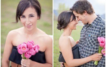 A Cute Engagement Shoot: Long Distance Love & Cupcakes