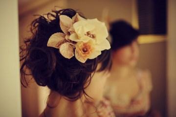 hair up flowers | ben blood photograhpy