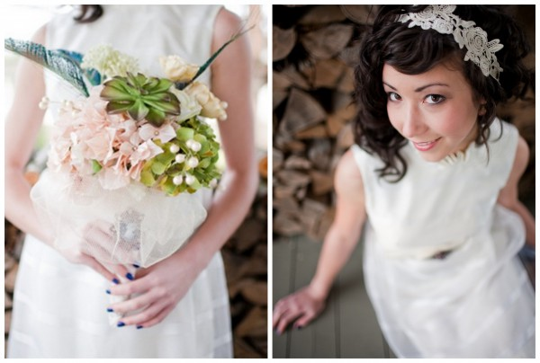 A Quirky, Vintage, $30 Wedding Dress Inspiration Shoot