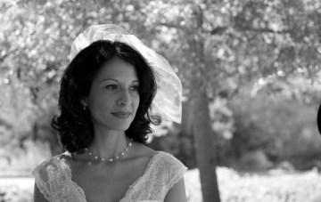 short vintage style veil | diana rush photography