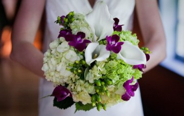 purple and green bouquet   Kate's Lens Photography