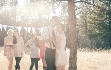 A Whimsical Wedding Reception In The Woods