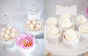 Pure White DIY Party With A Hint Of Pink: Balloons, Doilies & Hearts