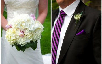 A Classically Beautiful Wedding: Purple, Black & Ivy