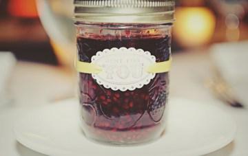 homemade jam wedding favor | sarah vaughan photography