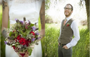Quirky, Rustic, Vintage Bridal Shoot: Lace & Lovebirds