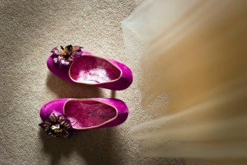 purple wedding shoes | david griffiths photography