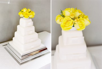 white wedding cake yellow flowers | ed osbourn photography