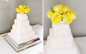 white wedding cake yellow flowers | ed osbourn photography