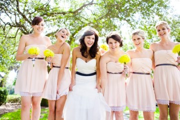 pale pink bridesmaid dress   scarlett and stephen photography