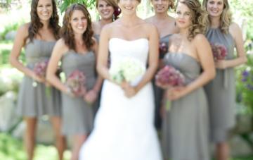 Elegant Raspberry Red, Gray & Pewter Wedding
