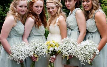 Green, Yellow & Daisy Filled Boho Wedding