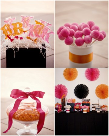 pink and orange dessert table | studio 1208