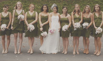 Moss Green Bridesmaids Dresses   Stone Crandall Photography