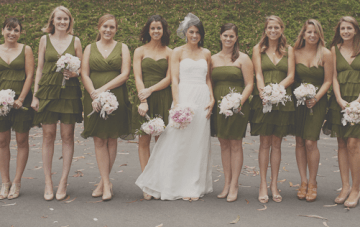Moss Green, Grey & Pale Pink San Francisco Wedding