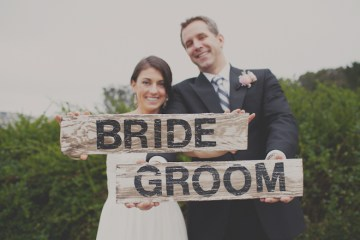 bride and groom signs   stone crandall photography
