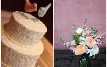 rustic white wedding cake bird toppers   esther louise photography