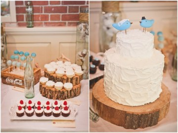 rustic white wedding cake | sweet little photographs