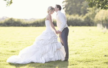 Glamourous Pastel Pink & Green English Barn Wedding