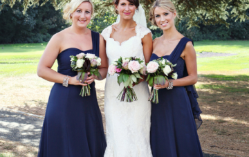 Vintage Inspired English Elegance: Navy, Pink & Lace Wedding 2