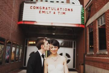 stylish bride and groom | luke eshleman photography