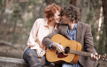 Whimsical Music Themed Love Shoot In The Californian Mountains