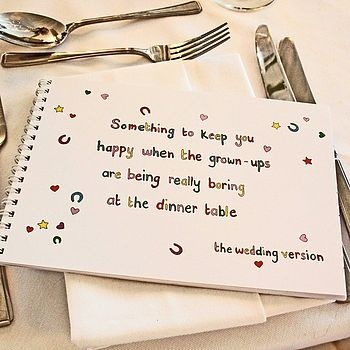 activity book for children by wedding of my dreams