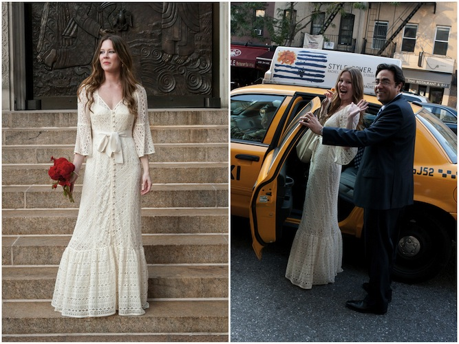 Beige Lace Bhldn Wedding Dress Or Bridesmaid Gown: Wedding Dress Of The Week