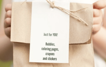 What To Include In A Kid's Activity Box At A Wedding