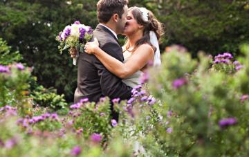 Rustic Chic Purple, Green & Brown DIY Wedding