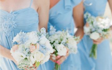 Peach And Pale Blue Beach Chic Wedding Inspiration