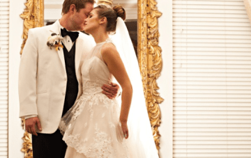 Classic, Elegant Winter Wedding & A Ballerina Bun For The Bride
