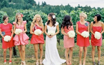 Modern Blush Pink & Red Summer Wedding Inspiration
