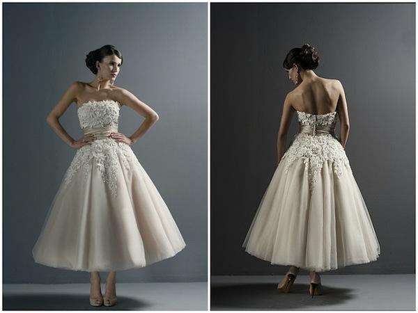 Justin Alexander Tea Length Vintage Dress 8645